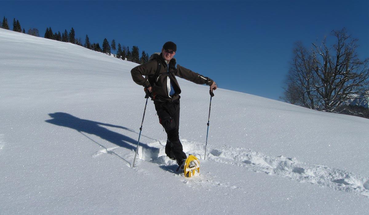 Schneeschuhwanderung mit Ihrem Gastgeber