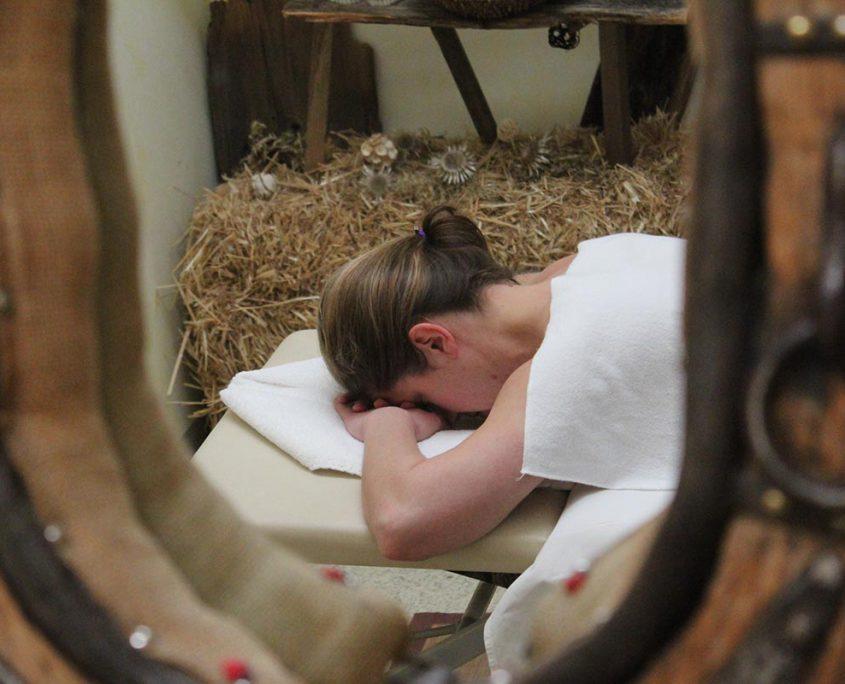 Massagezeit im Hotel Erlebach