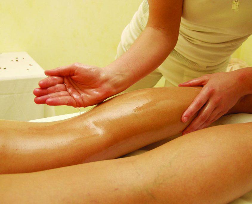 Massage Hotel Erlebach mit Mandelöl