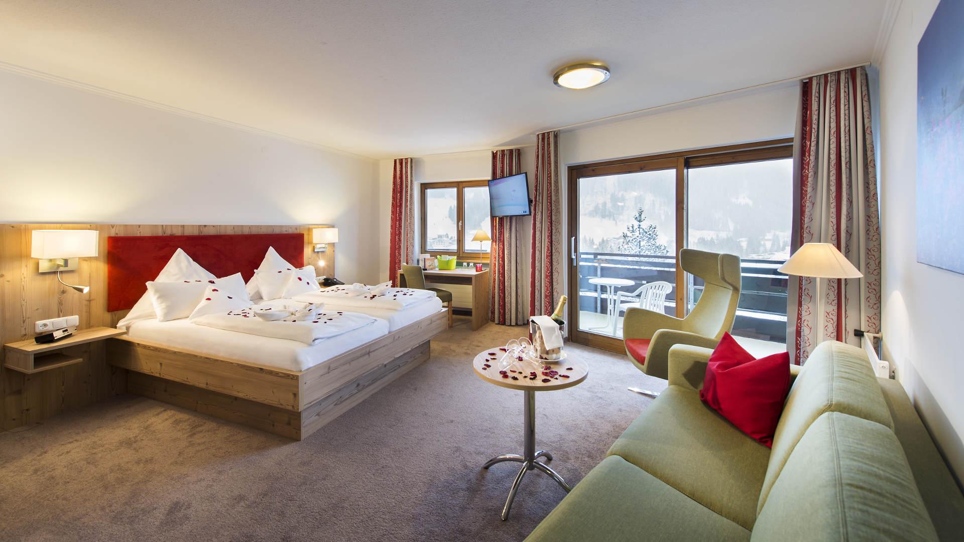 Doppelzimmer Romantik Hotel Erlebach Riezlern HB