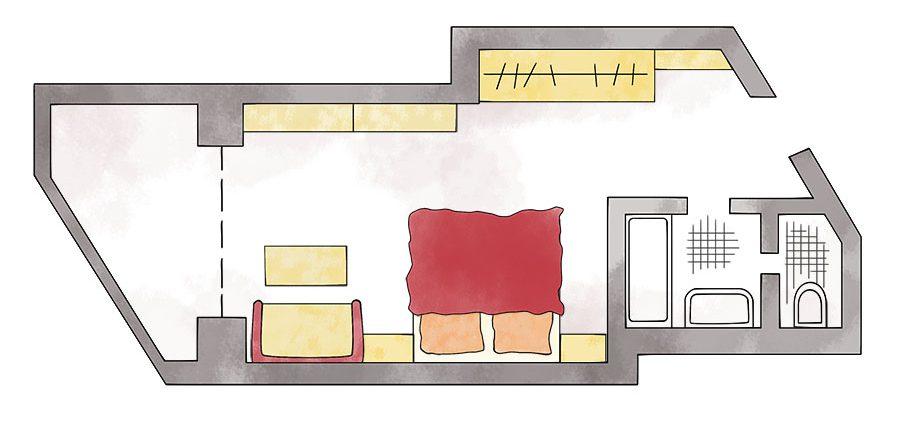 Doppelzimmer Komfort Wellnesshotel Erlebach