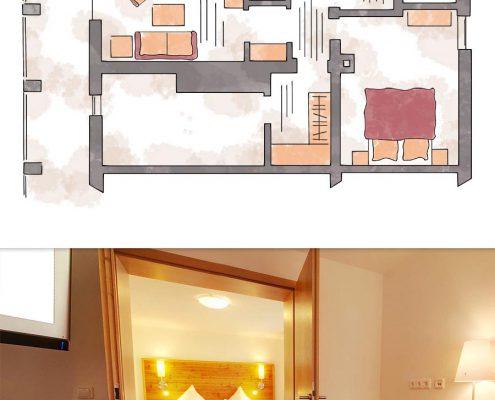 2-Raum-Suite Kuschelsuite