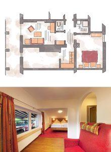 2-Raum-Suite Panoramasuite