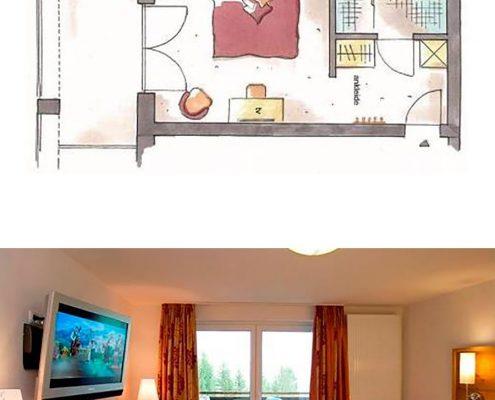 Doppelzimmer Alpinstyle im Hotel Erlebach