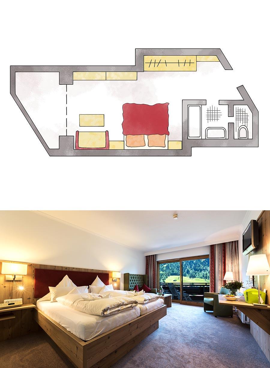 Doppelzimmer Komfort Hotel Erlebach