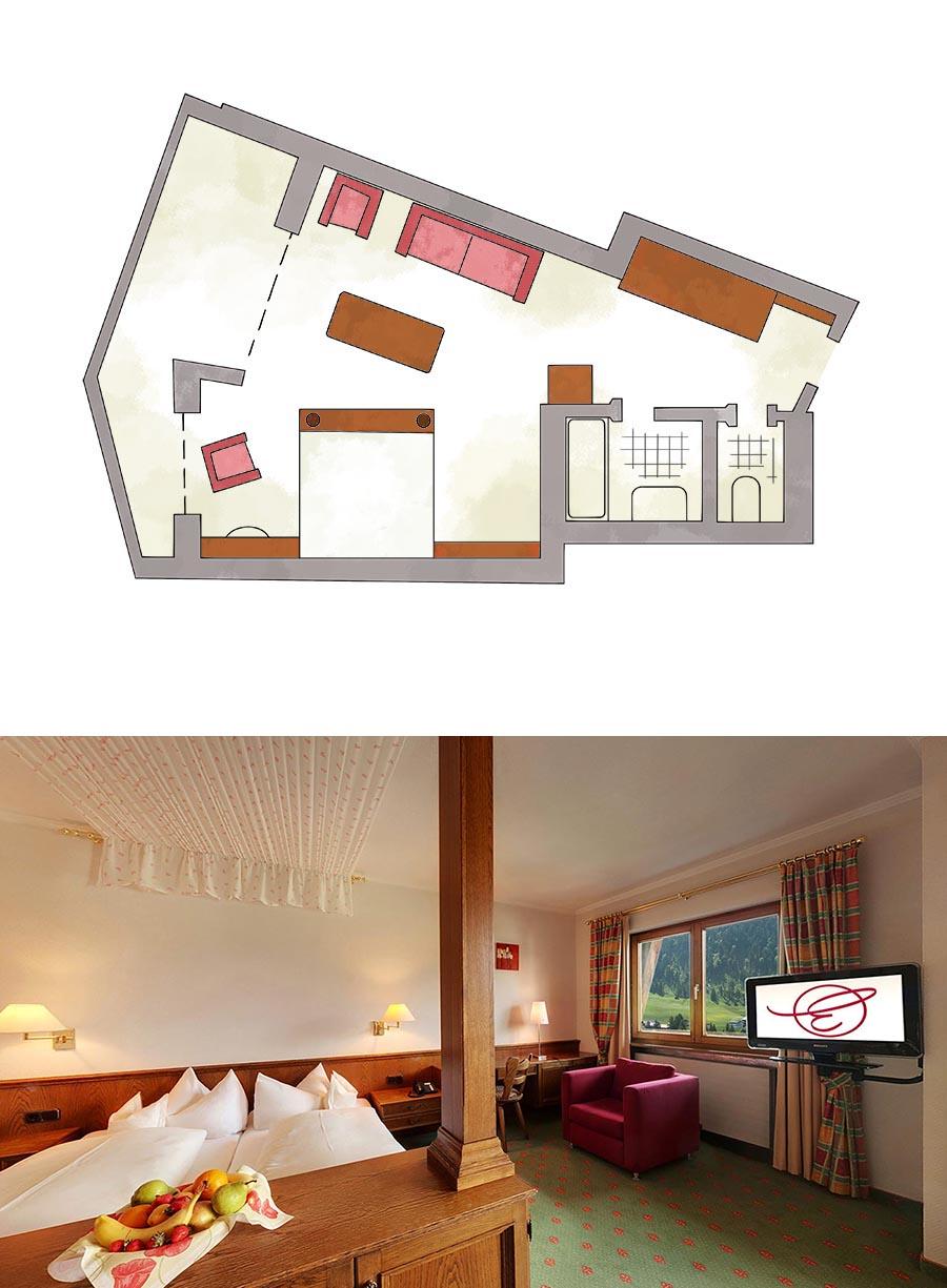 Doppelzimmer Standard im Hotel im Kleinwalsertal