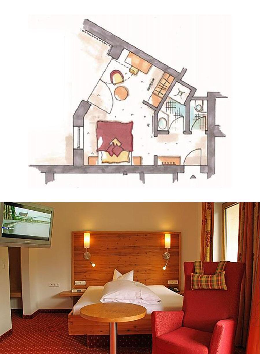 Einzelzimmer Alpinstyle im Hotel Erlebach