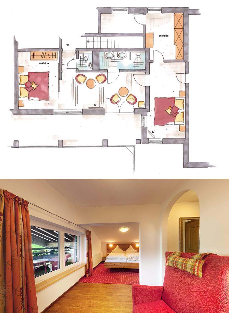 Panoramasuite mit 2 Zimmern