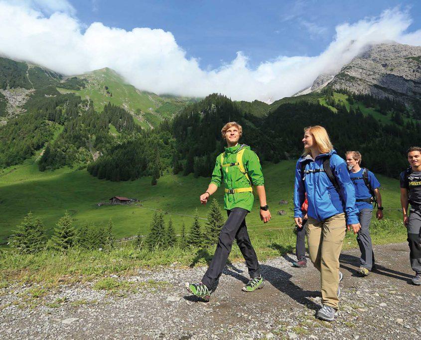 Wanderungen und Bergtouren im Kleinwalsertal