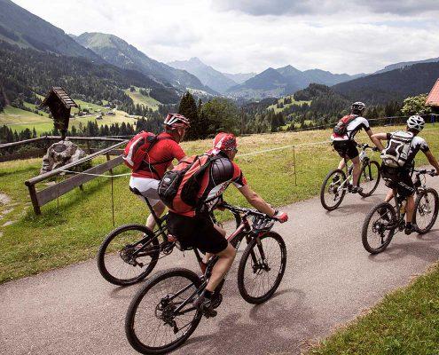 Geführte Mountainbike Tour im Kleinwalsertal