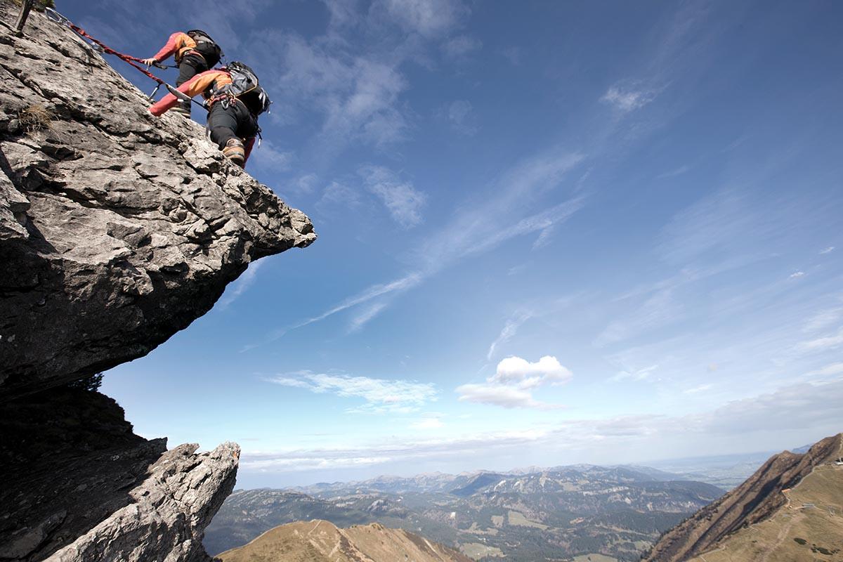 Klettersteigset Leihen Oberstdorf : Klettern und klettersteige hotel erlebach wellness wandern
