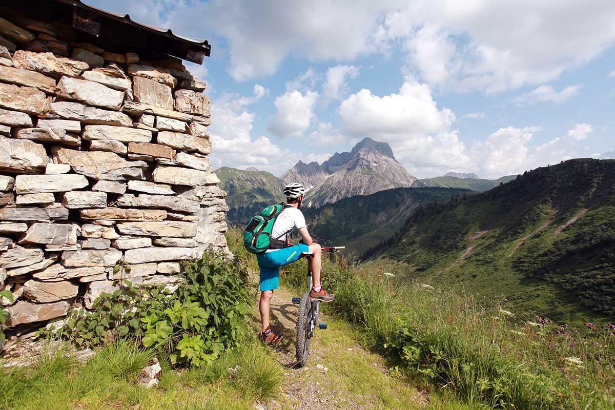 Aussicht bei Panorama-Bike-Tour im Kleinwalsertal