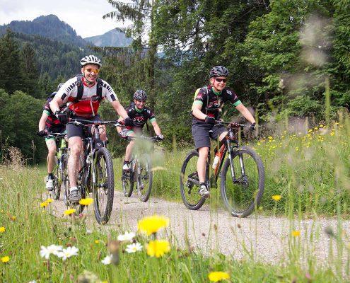 Mountainbiker im Bike-Hotel im Kleinwalsertal