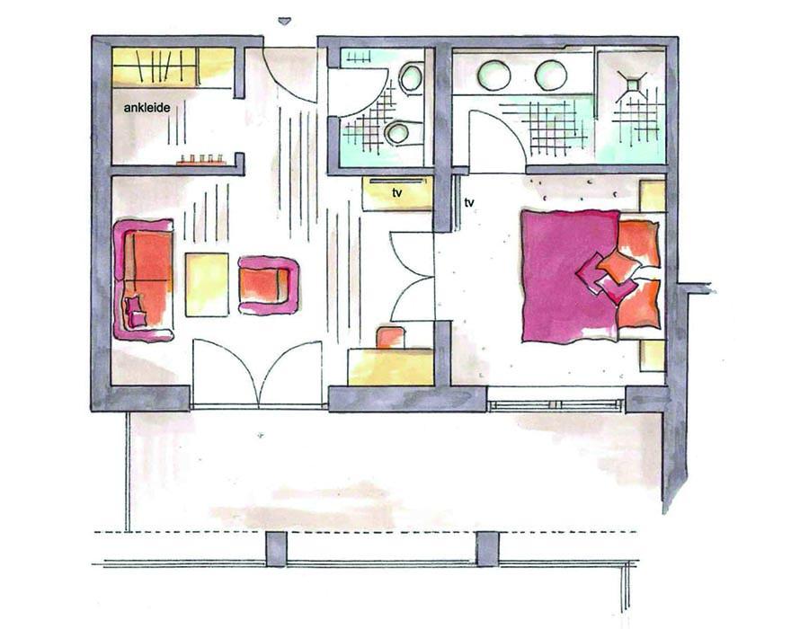 Grosse Alpen-Suite Grundriss