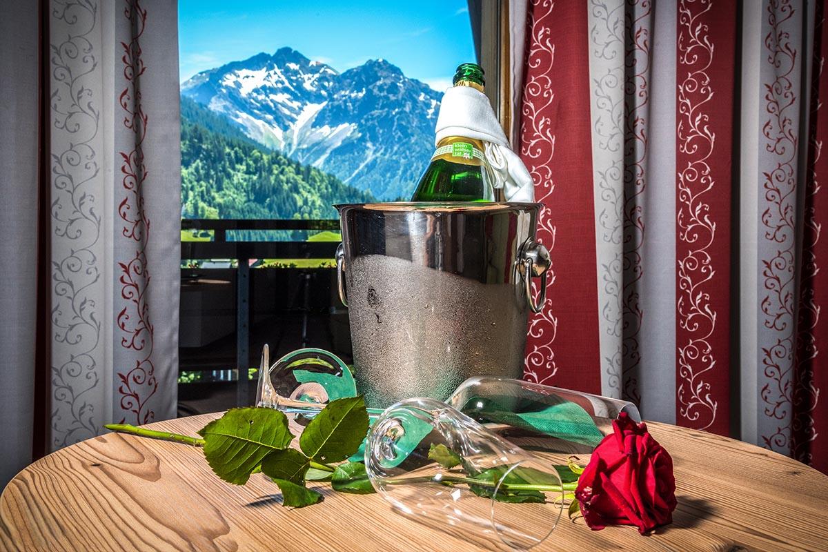 Blick aus dem Zimmer im Hotel in Riezlern