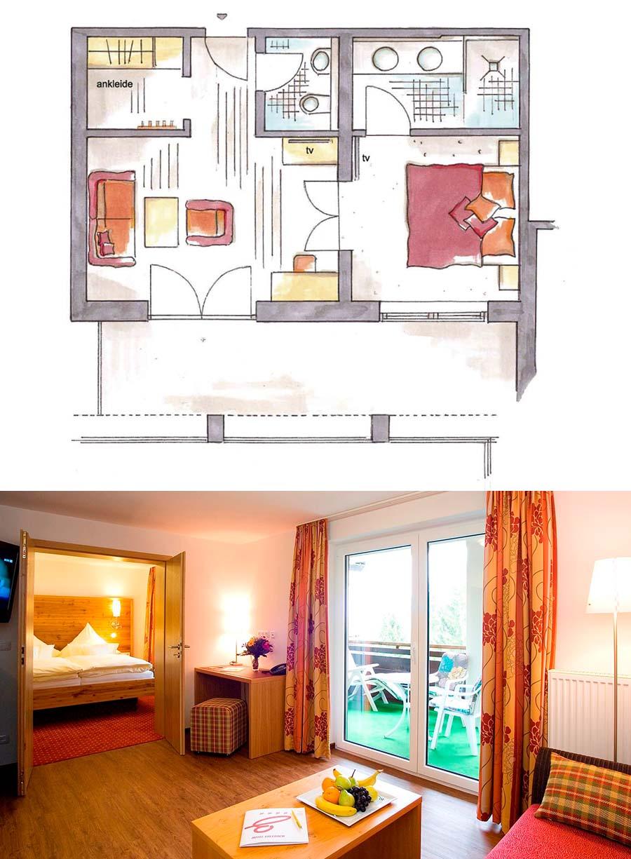 Grosse Alpen-Suite im Hotel Erlebach