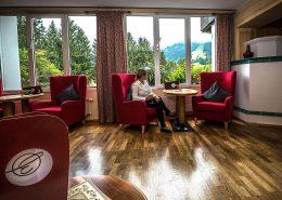 Lobby mit Aussicht Hotel Erlebach Kleinwalsretal
