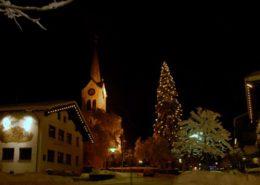 Kirche an Weihnachten Riezlern Hotel Erlebach BB