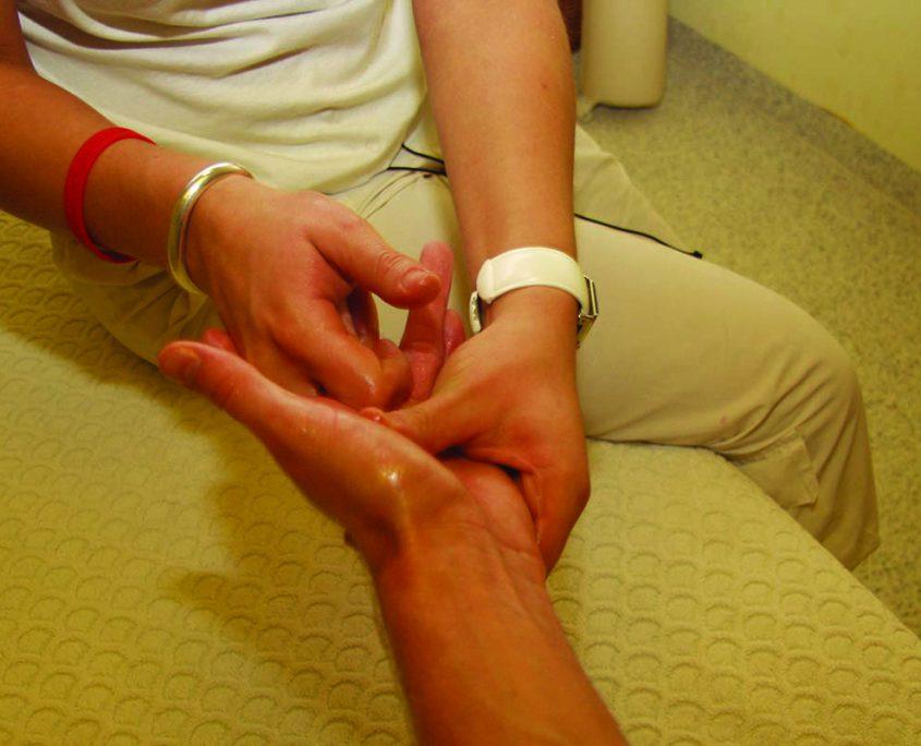 Massagezeit mit Spezialö