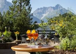 Fantastische Ausblicke Sonnenterrasse Hotel Erlebach Kleinwalsertal BB