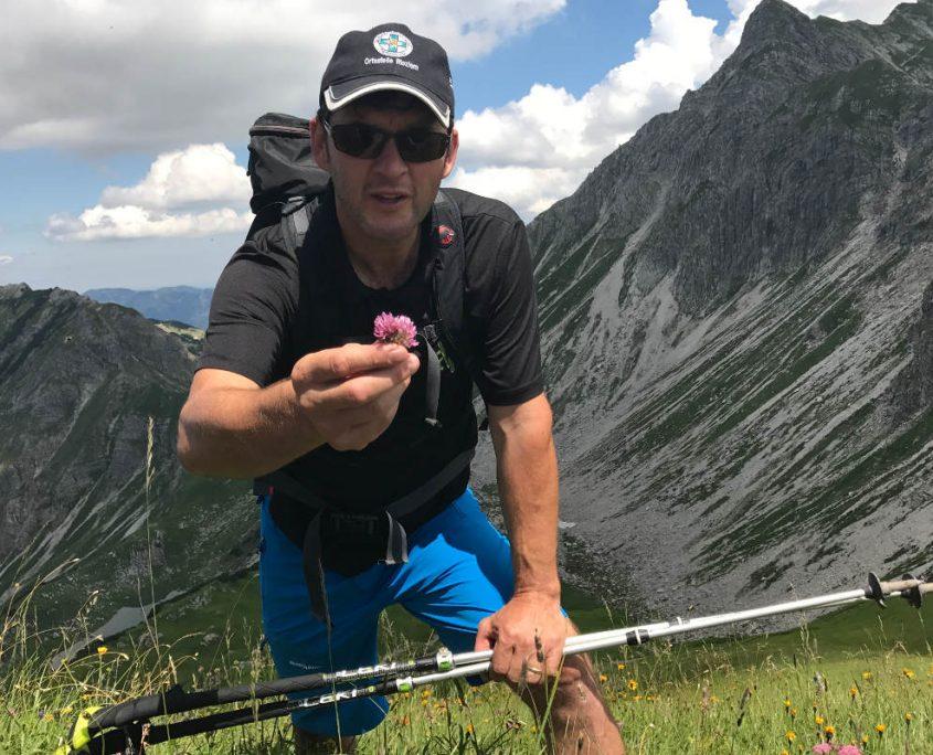 Gastgeber und Wanderführer Raimund Bischof